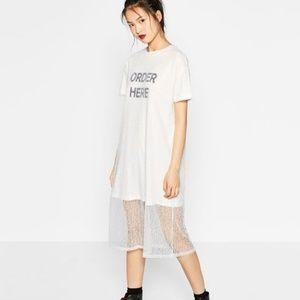 🆕Zara Order Here Lace Tee Dress
